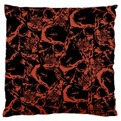 Skull Pattern Standard Flano Cushion Case (one Side) by ValentinaDesign