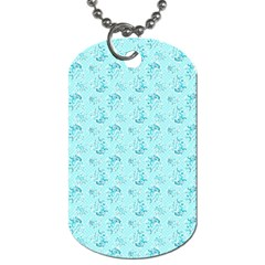 Floral Pattern Dog Tag (two Sides) by ValentinaDesign