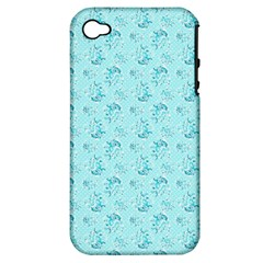 Floral Pattern Apple Iphone 4/4s Hardshell Case (pc+silicone) by ValentinaDesign