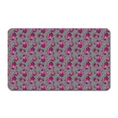 Floral Pattern Magnet (rectangular) by ValentinaDesign