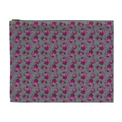 Floral Pattern Cosmetic Bag (xl) by ValentinaDesign