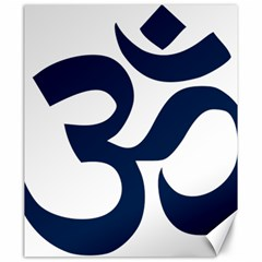 Hindu Om Symbol (dark Blue) Canvas 20  X 24   by abbeyz71
