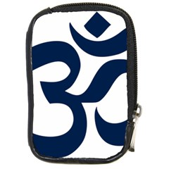 Hindu Om Symbol (dark Blue) Compact Camera Cases by abbeyz71