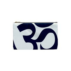 Hindu Om Symbol (dark Blue) Cosmetic Bag (small)  by abbeyz71