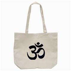 Hindu Om Symbol (dark Blue) Tote Bag (cream) by abbeyz71