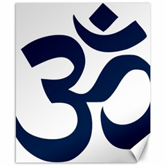 Hindu Om Symbol (dark Blue) Canvas 8  X 10  by abbeyz71