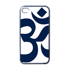 Hindu Om Symbol (dark Blue) Apple Iphone 4 Case (black) by abbeyz71