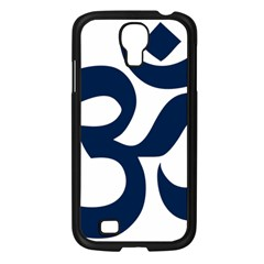 Hindu Om Symbol (dark Blue) Samsung Galaxy S4 I9500/ I9505 Case (black) by abbeyz71