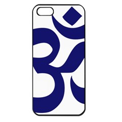 Hindu Om Symbol (midnight Blue) Apple Iphone 5 Seamless Case (black) by abbeyz71