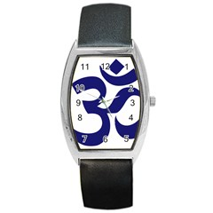Om Symbol (midnight Blue) Barrel Style Metal Watch by abbeyz71