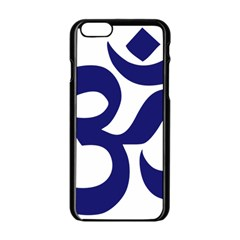 Om Symbol (midnight Blue) Apple Iphone 6/6s Black Enamel Case by abbeyz71