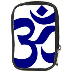 Om Symbol (navy Blue) Compact Camera Cases by abbeyz71