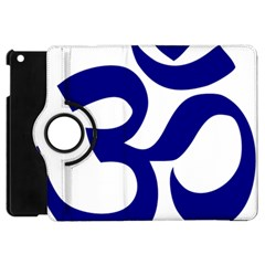 Om Symbol (navy Blue) Apple Ipad Mini Flip 360 Case by abbeyz71