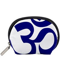 Om Symbol (navy Blue) Accessory Pouches (small)
