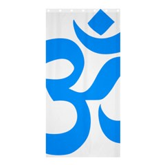 Hindu Om Symbol (ocean Blue) Shower Curtain 36  X 72  (stall)  by abbeyz71