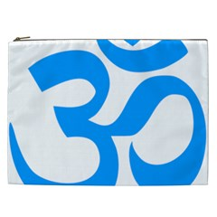 Hindu Om Symbol (ocean Blue) Cosmetic Bag (xxl)  by abbeyz71