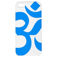 Hindu Om Symbol (ocean Blue) Apple Iphone 5 Hardshell Case by abbeyz71