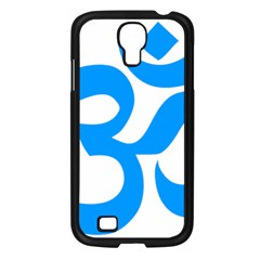 Hindu Om Symbol (ocean Blue) Samsung Galaxy S4 I9500/ I9505 Case (black) by abbeyz71