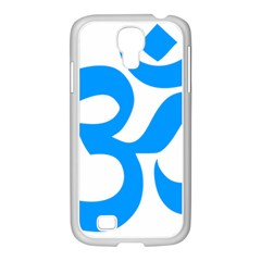 Hindu Om Symbol (ocean Blue) Samsung Galaxy S4 I9500/ I9505 Case (white) by abbeyz71
