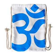 Hindu Om Symbol (ocean Blue) Drawstring Bag (large) by abbeyz71