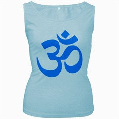 Hindu Om Symbol (ocean Blue) Women s Baby Blue Tank Top by abbeyz71