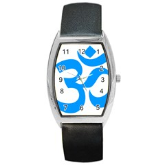 Hindu Om Symbol (ocean Blue) Barrel Style Metal Watch by abbeyz71