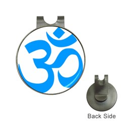 Hindu Om Symbol (ocean Blue) Hat Clips With Golf Markers by abbeyz71