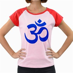 Hindu Om Symbol (blue) Women s Cap Sleeve T-shirt by abbeyz71