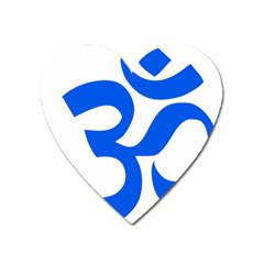 Hindu Om Symbol (blue) Heart Magnet by abbeyz71