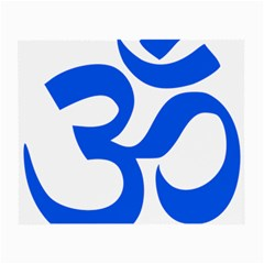 Hindu Om Symbol (blue) Small Glasses Cloth (2 Side) by abbeyz71