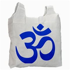 Hindu Om Symbol (blue) Recycle Bag (one Side) by abbeyz71