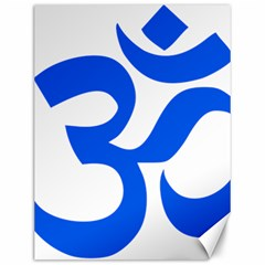 Hindu Om Symbol (blue) Canvas 12  X 16   by abbeyz71