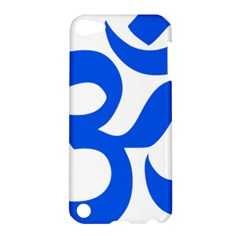 Hindu Om Symbol (blue) Apple Ipod Touch 5 Hardshell Case by abbeyz71