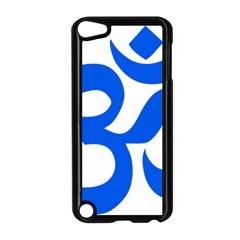 Hindu Om Symbol (blue) Apple Ipod Touch 5 Case (black) by abbeyz71
