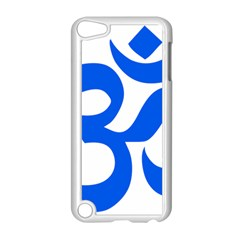 Hindu Om Symbol (blue) Apple Ipod Touch 5 Case (white) by abbeyz71