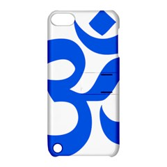 Hindu Om Symbol (blue) Apple Ipod Touch 5 Hardshell Case With Stand by abbeyz71