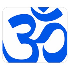 Hindu Om Symbol (Blue) Double Sided Flano Blanket (Small)