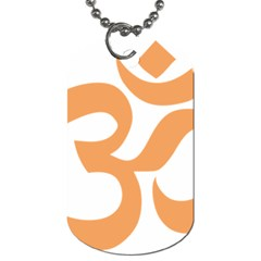 Hindu Om Symbol (sandy Brown) Dog Tag (one Side) by abbeyz71