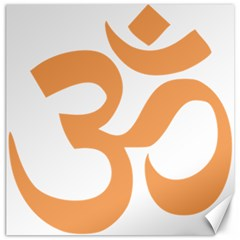 Hindu Om Symbol (sandy Brown) Canvas 20  X 20   by abbeyz71