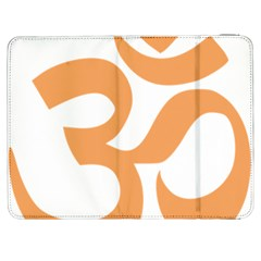 Hindu Om Symbol (sandy Brown) Samsung Galaxy Tab 7  P1000 Flip Case by abbeyz71