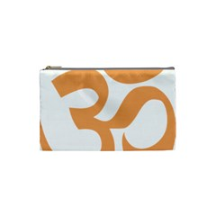 Hindu Om Symbol (sandy Brown) Cosmetic Bag (small)  by abbeyz71