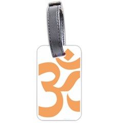 Hindu Om Symbol (sandy Brown) Luggage Tags (two Sides) by abbeyz71