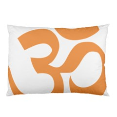 Hindu Om Symbol (sandy Brown) Pillow Case (two Sides) by abbeyz71
