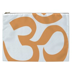 Hindu Om Symbol (sandy Brown) Cosmetic Bag (xxl)  by abbeyz71