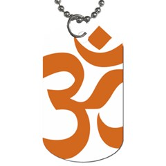 Hindu Om Symbol (chocolate Brown) Dog Tag (one Side) by abbeyz71