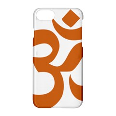 Hindu Om Symbol (chocolate Brown) Apple Iphone 7 Hardshell Case by abbeyz71
