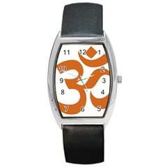 Hindu Om Symbol (chocolate Brown) Barrel Style Metal Watch by abbeyz71