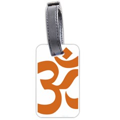Hindu Om Symbol (chocolate Brown) Luggage Tags (one Side)  by abbeyz71