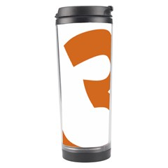 Hindu Om Symbol (chocolate Brown) Travel Tumbler by abbeyz71