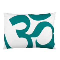 Hindu Om Symbol (dark Cyan) Pillow Case (two Sides) by abbeyz71